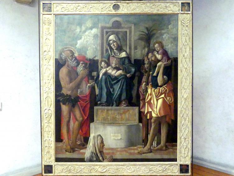 Francesco Bonsignori: Maria mit Kind und Heiligen (Dal Bovo Altar), Undatiert
