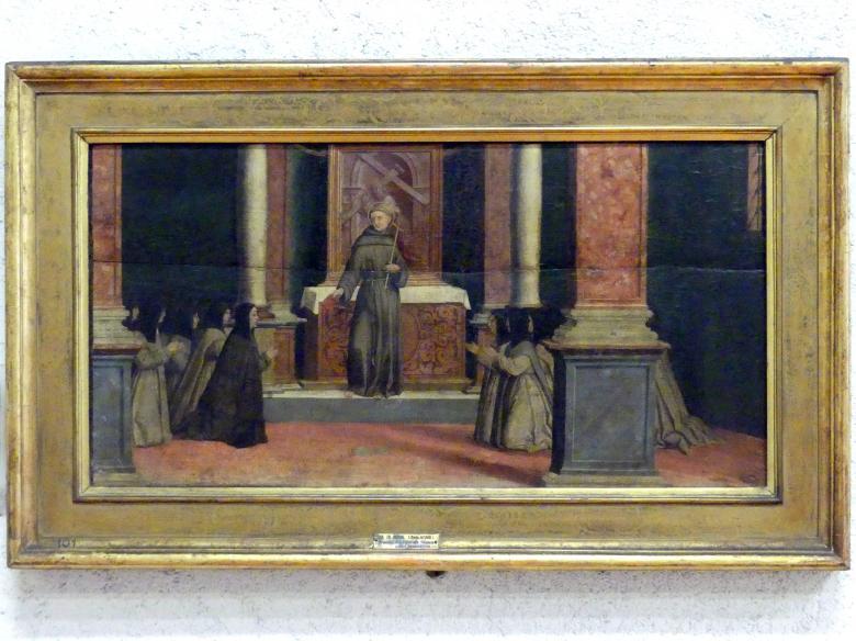 Paolo Morando (Cavazzola): Der Heilige Franziskus übergibt den Klarissen die Ordensregel, 1522