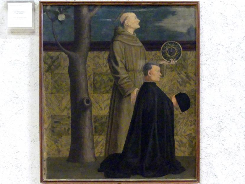 Francesco Morone: Der Heilige Bernhardin und ein Stifter, Undatiert