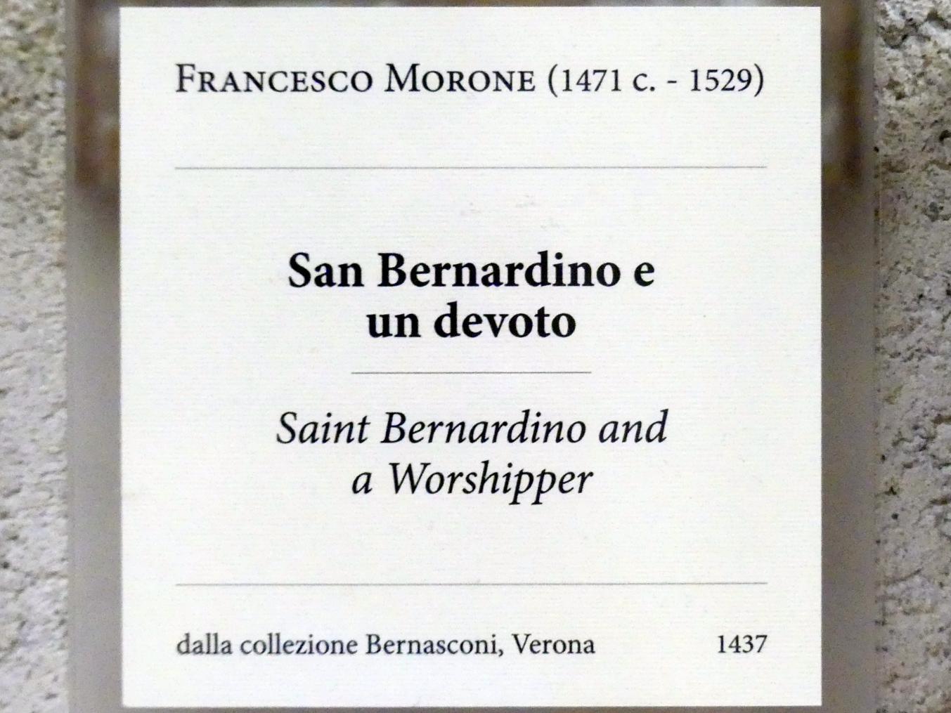 Francesco Morone: Der Heilige Bernhardin und ein Stifter, Undatiert, Bild 2/2