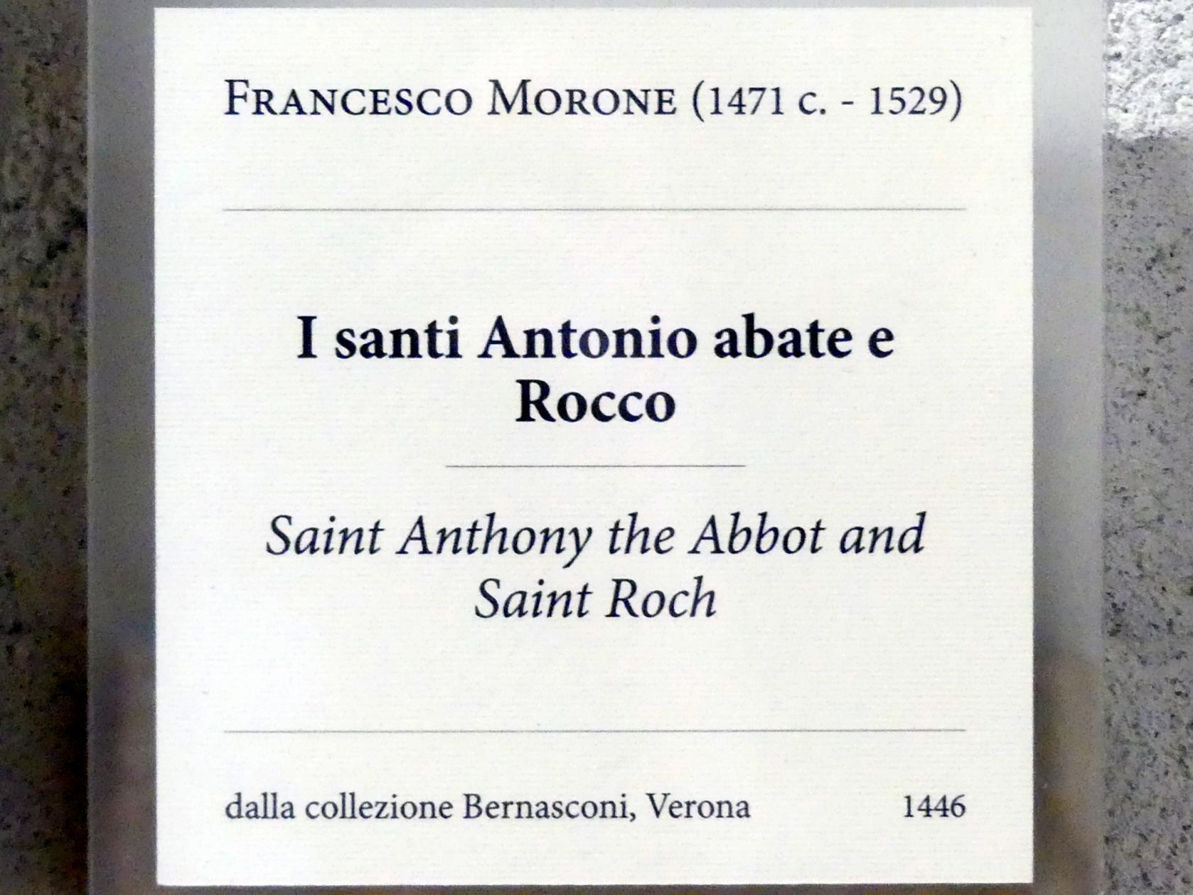Francesco Morone: Die Heiligen Antonius und Rochus, Undatiert, Bild 2/2