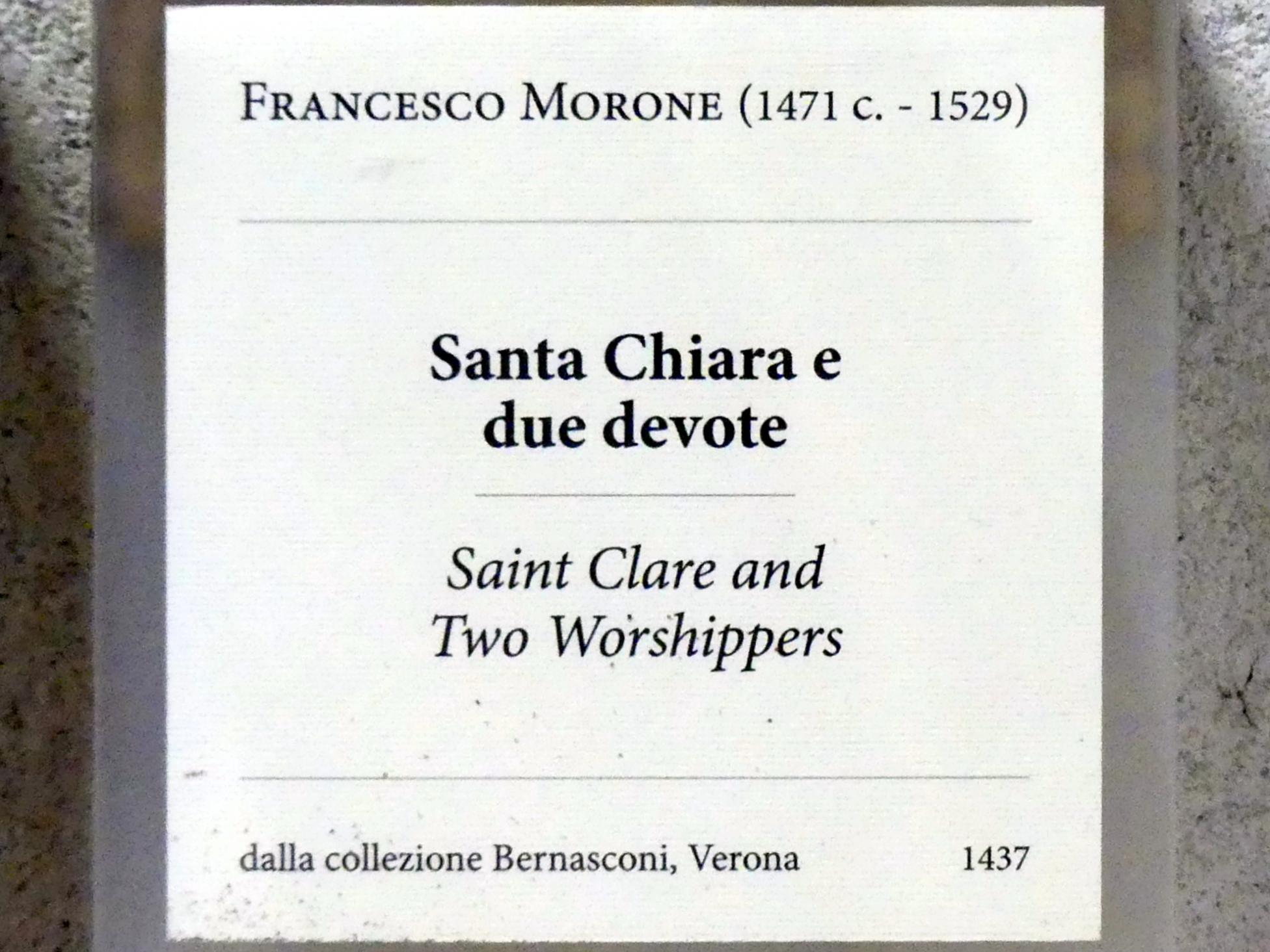 Francesco Morone: Die Heilige Klara und zwei Stifterinnen, Undatiert, Bild 2/2