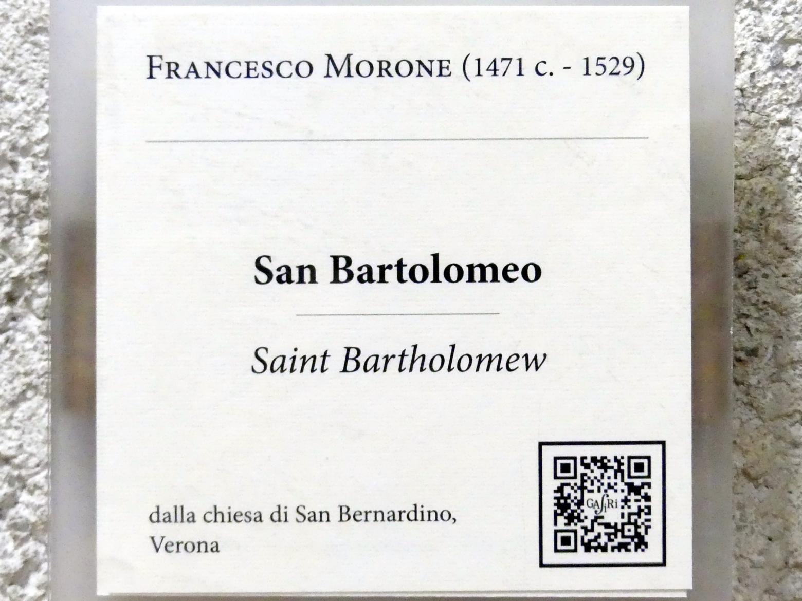 Francesco Morone: Der Heilige Bartholomäus, Undatiert, Bild 2/2