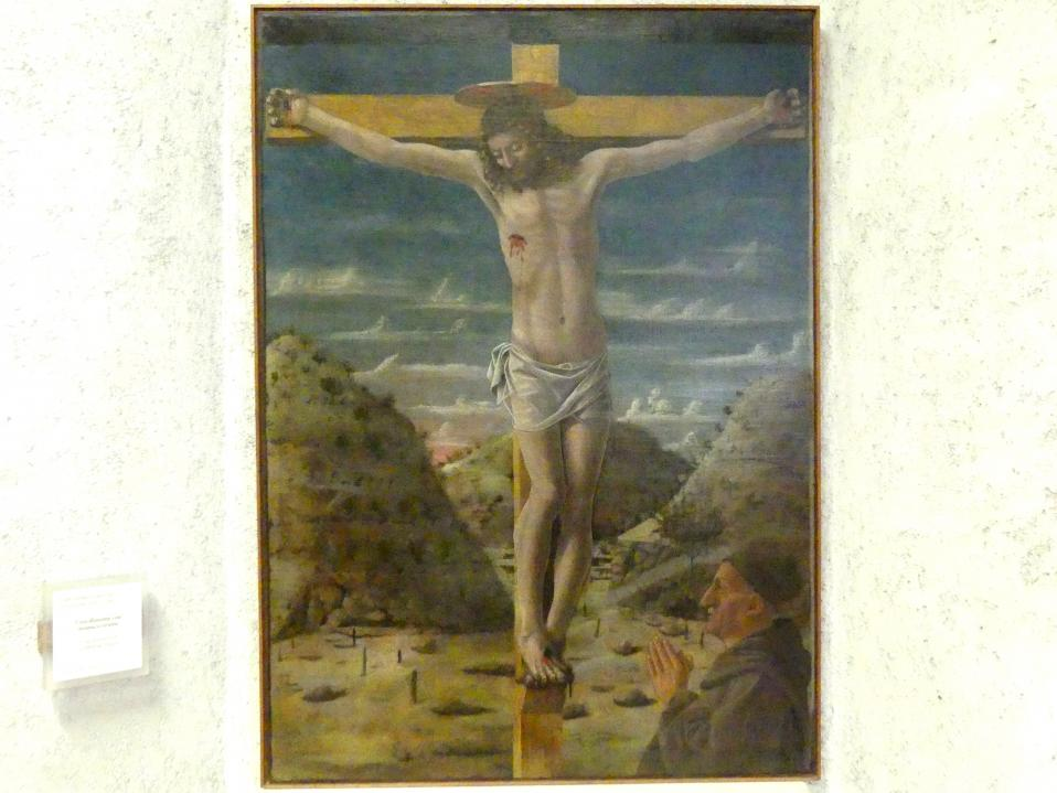 Cristoforo Canozi da Lendinara: Gekreuzigter mit einem betenden Mönch, Undatiert