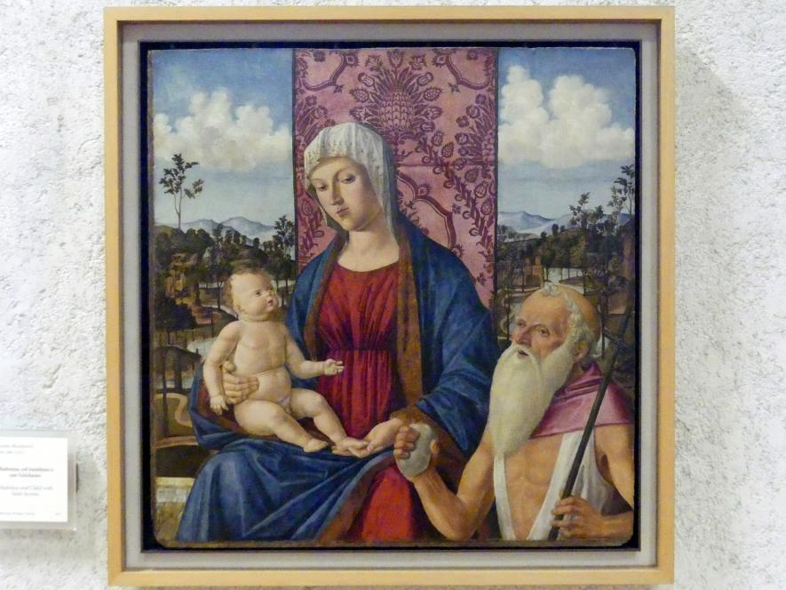 Giovanni di Niccolò Mansueti: Maria mit Kind und dem Heiligen Hieronymus, Undatiert