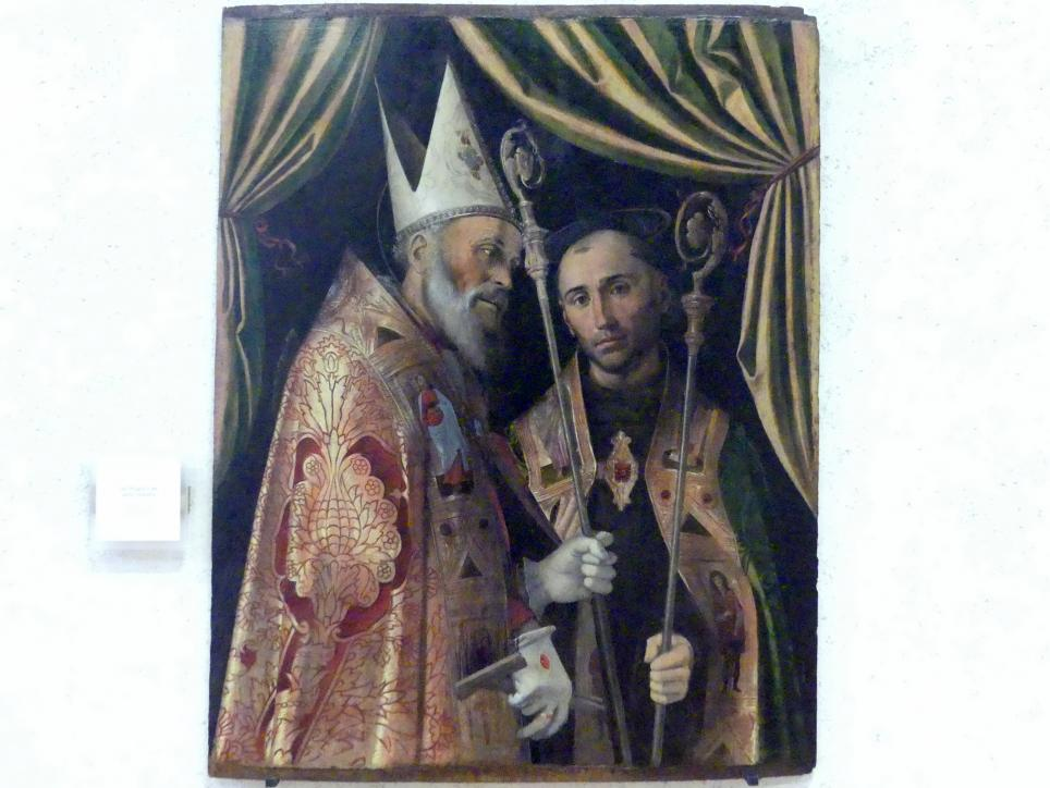 Bartolomeo Montagna: Hl. Blasius und ein Bischof, Undatiert