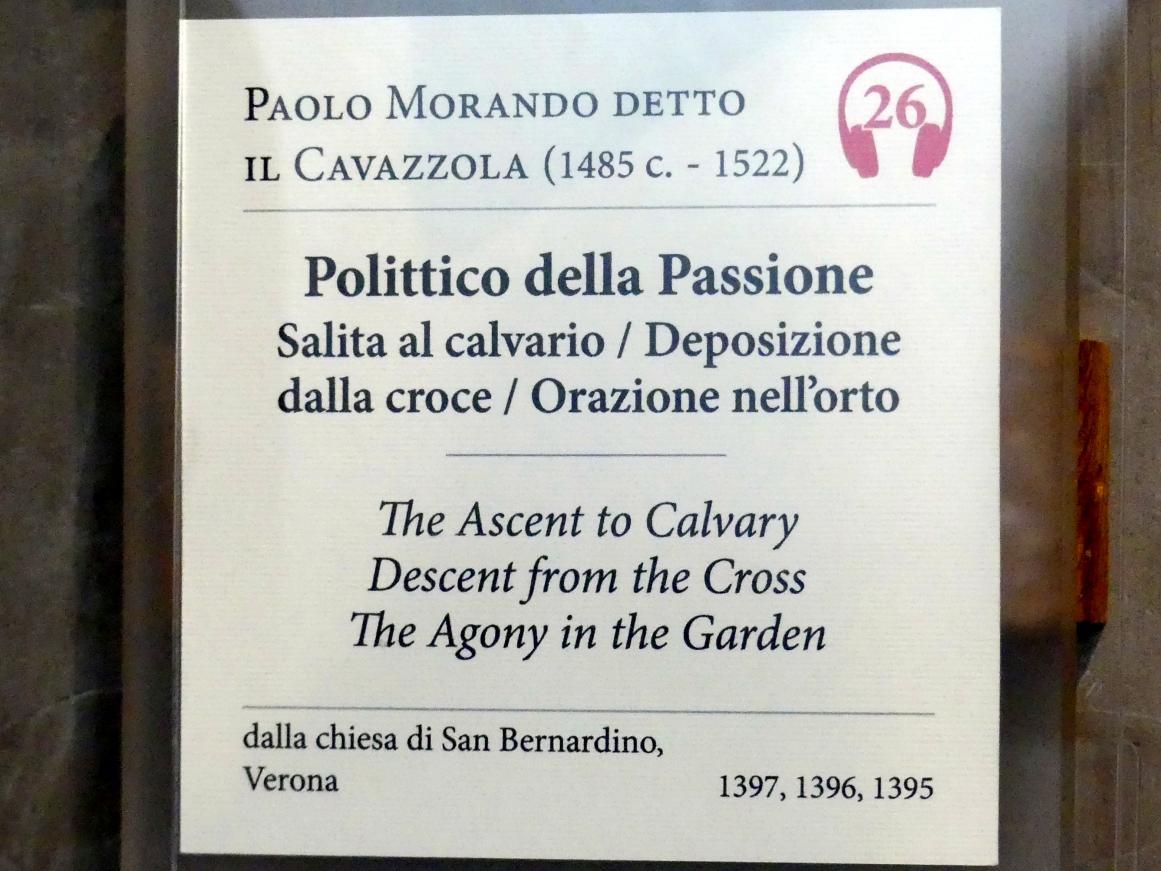 Paolo Morando (Cavazzola): Polyptichon der Passion, 1517, Bild 7/8