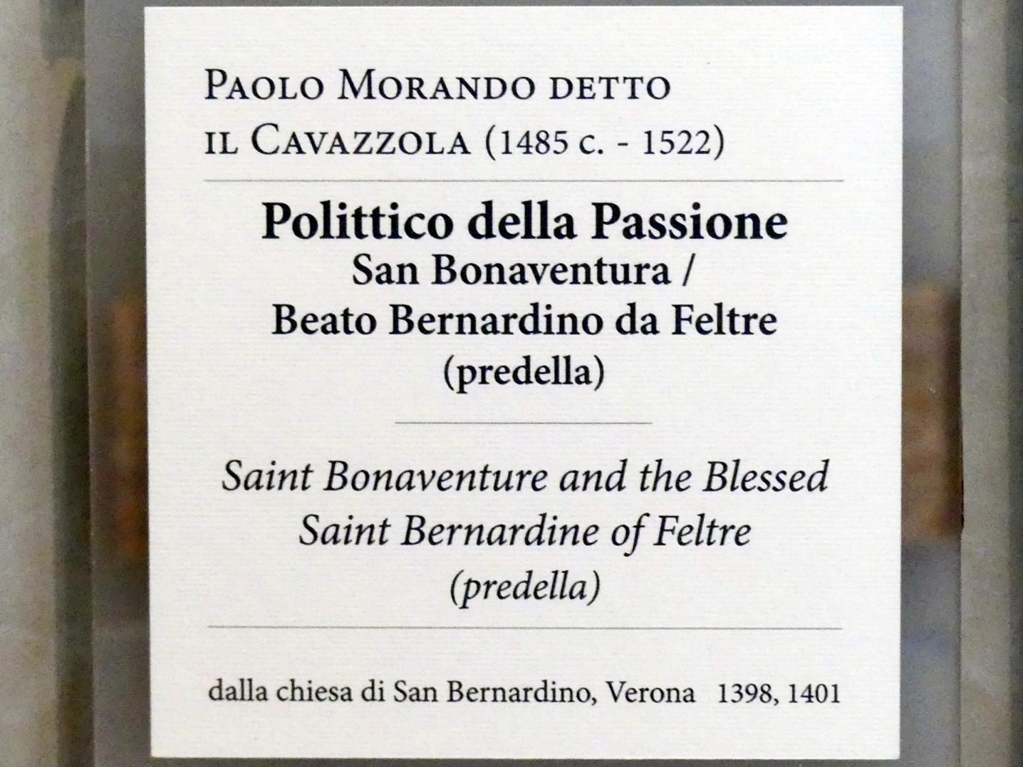 Paolo Morando (Cavazzola): Predella des Polyptichons der Passion, 1517, Bild 7/7
