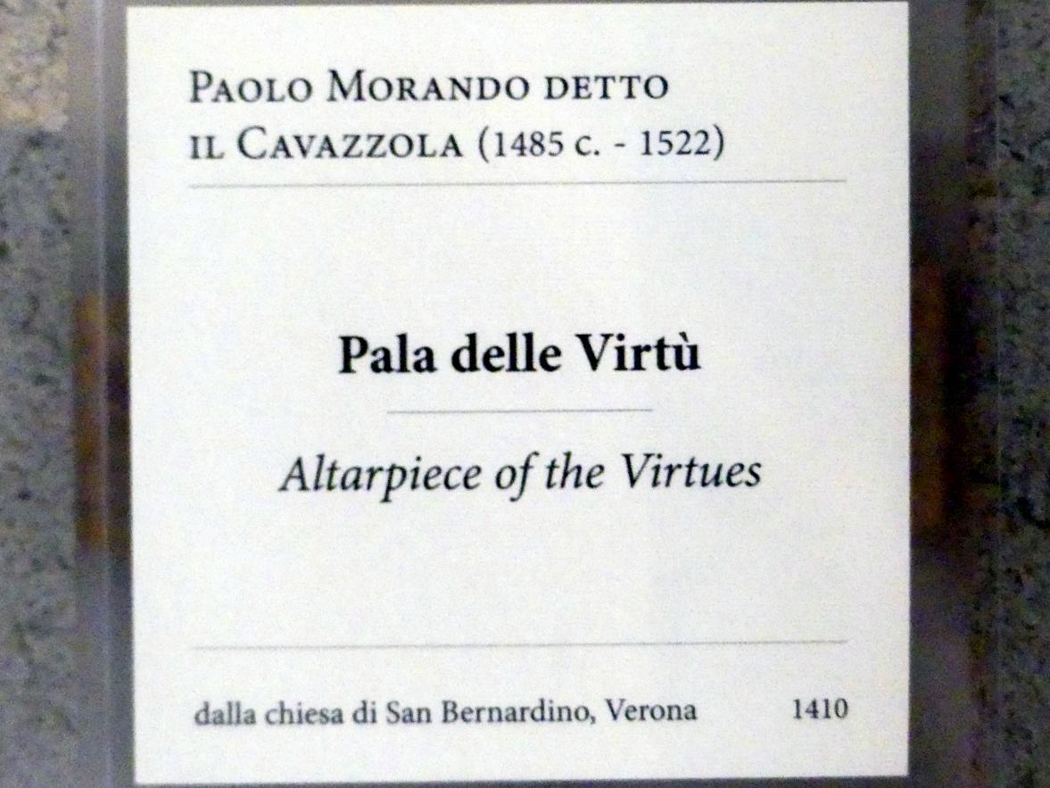 Paolo Morando (Cavazzola): Altar der Tugenden, 1522