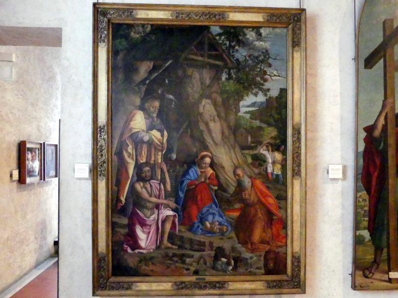 Girolamo dai Libri: Anbetung des Christkindes mit den Kaninchen, Undatiert