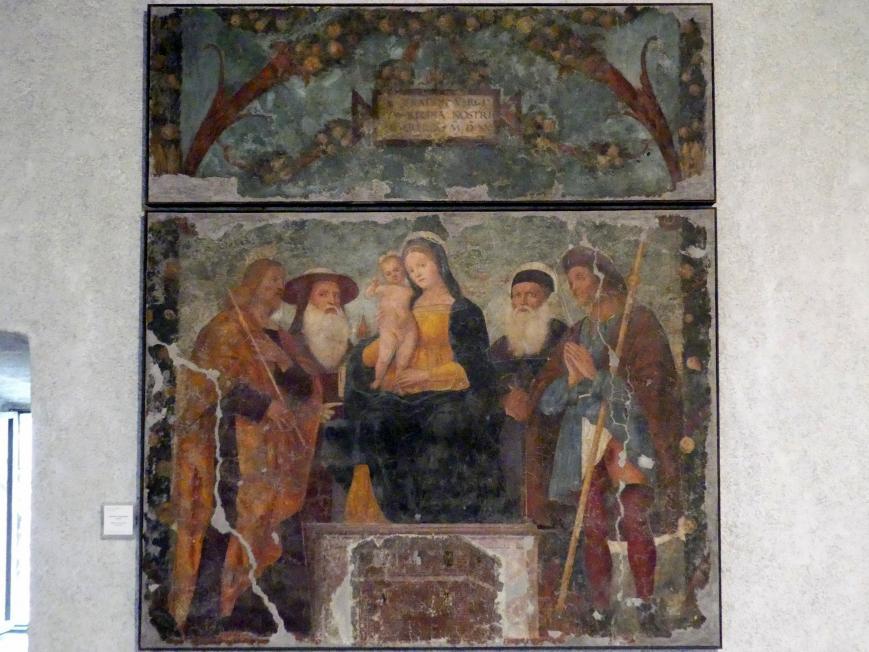 Francesco Morone: Thronende Madonna mit Kind und Heiligen, 1515