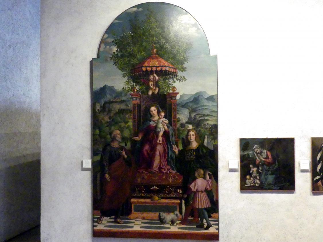 Girolamo dai Libri: Maria mit dem Sonnenschirm, 1530