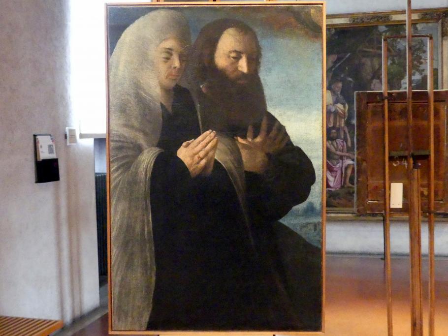 Giovanni Caroto: Selbstporträt mit seiner Frau Placida, Undatiert