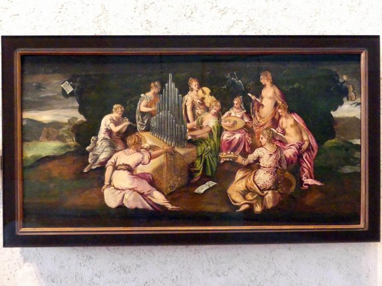 Jacopo Robusti (Tintoretto): Wettkampf zwischen den Musen und den Pieriden, Undatiert