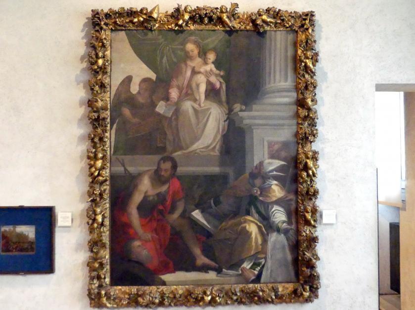 Paolo Caliari (Veronese): Maria mit Kind, Heiligen und Stiftern (Altar Bevilacqua Lazise), Undatiert