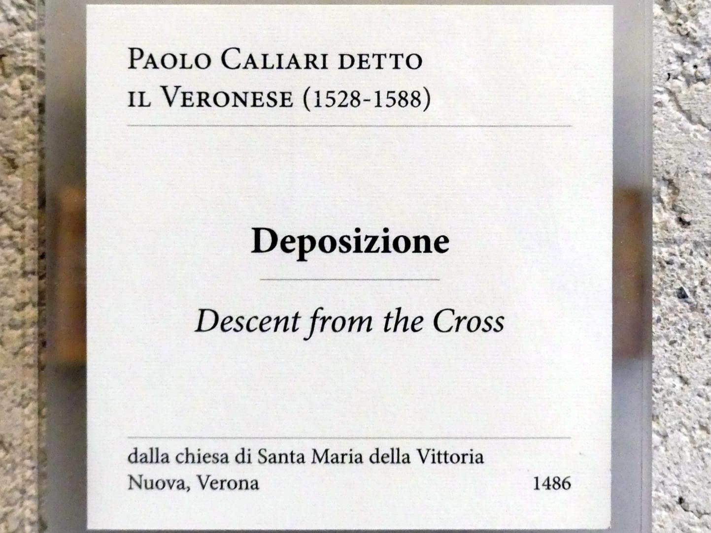 Paolo Caliari (Veronese): Kreuzabnahme Christi, Undatiert, Bild 2/2