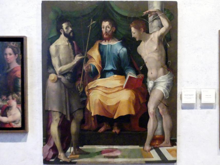 Johannes der Täufer und die Heiligen Jakobus und Sebastian, Mitte 16. Jhd.