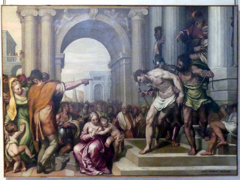 Paolo Farinato (Paolo Farinati): Christus vor dem Volk, 1562