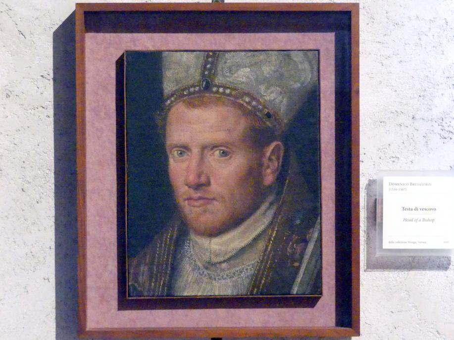 Domenico Brusasorzi: Kopf eines Bischofs, Undatiert