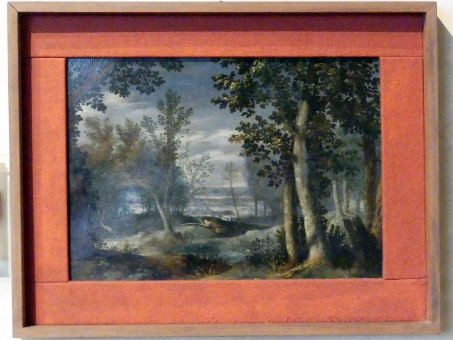 Girolamo Vernuga: Landschaft mit Jäger, Undatiert