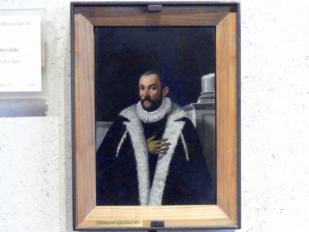 Bildnis eines Mannes, Ende 16. Jhd.