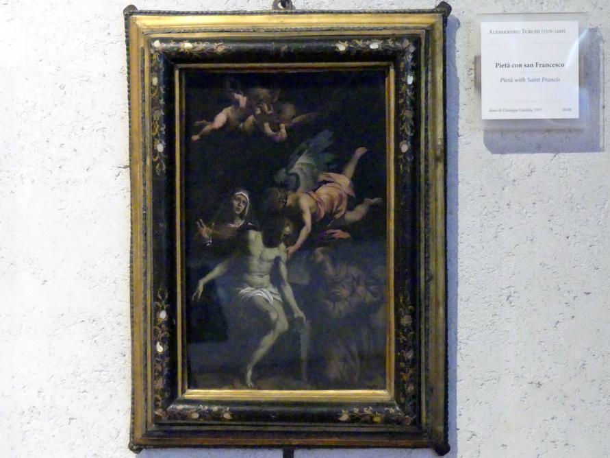 Alessandro Turchi (L'Orbetto): Pietà mit dem Heiligen Franziskus, Undatiert
