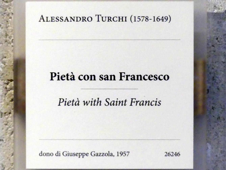 Alessandro Turchi (L'Orbetto): Pietà mit dem Heiligen Franziskus, Undatiert, Bild 2/2