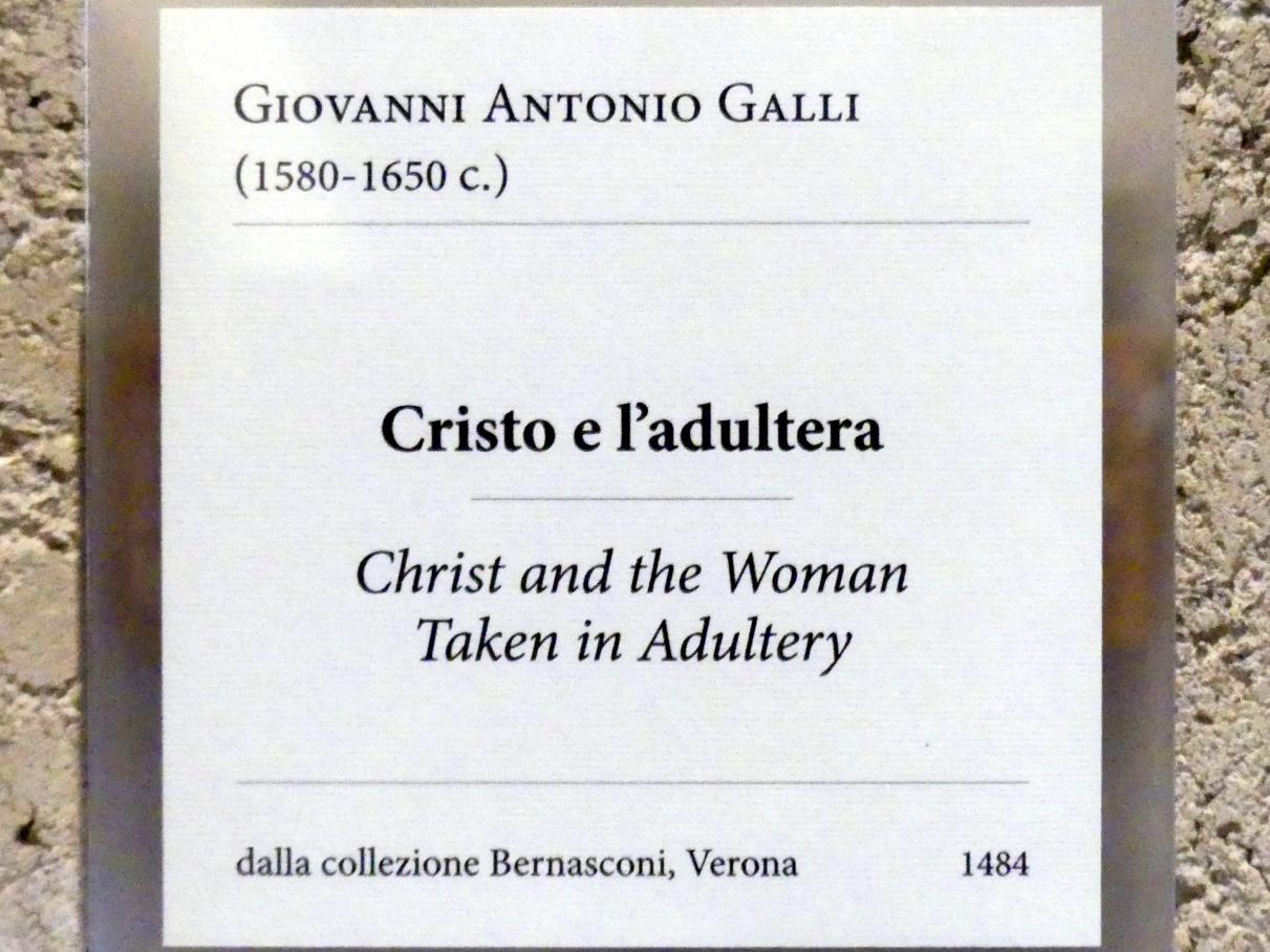 Giovanni Antonio Galli (Lo Spadarino): Christus und die Ehebrecherin, Undatiert, Bild 2/2
