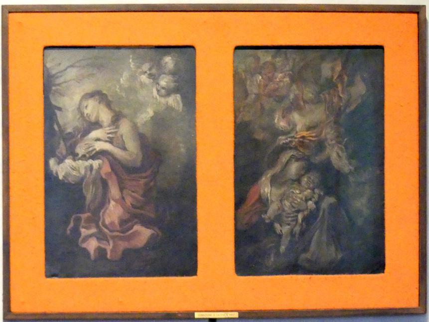 Giovanni Benedetto Castiglione (il Grechetto): Heilige Maria Magdalena / Maria mit Kind und Engeln, Undatiert