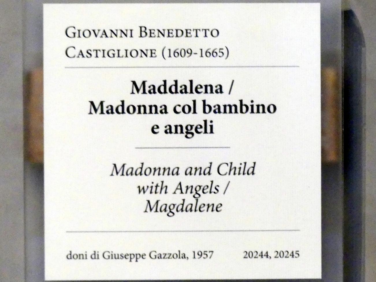 Giovanni Benedetto Castiglione (il Grechetto): Heilige Maria Magdalena / Maria mit Kind und Engeln, Undatiert, Bild 2/2