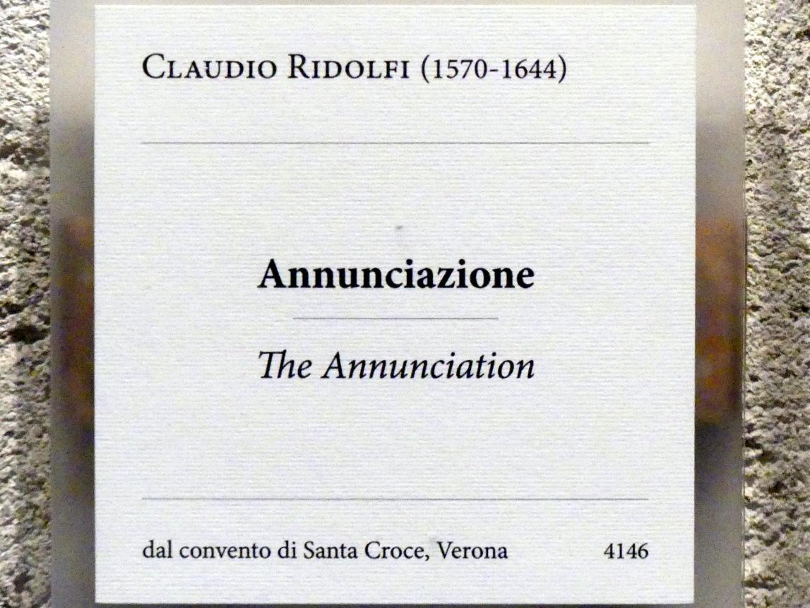 Claudio Ridolfi: Mariä Verkündigung, Undatiert, Bild 2/2