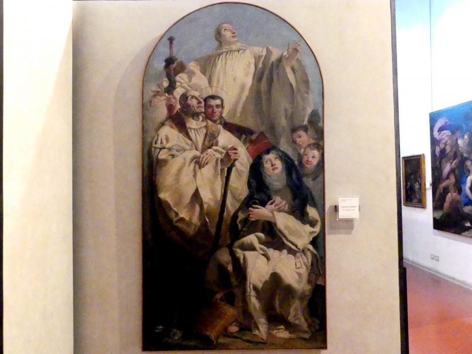 Giovanni Domenico Tiepolo: Vier heilige Kamaldulenser, Undatiert