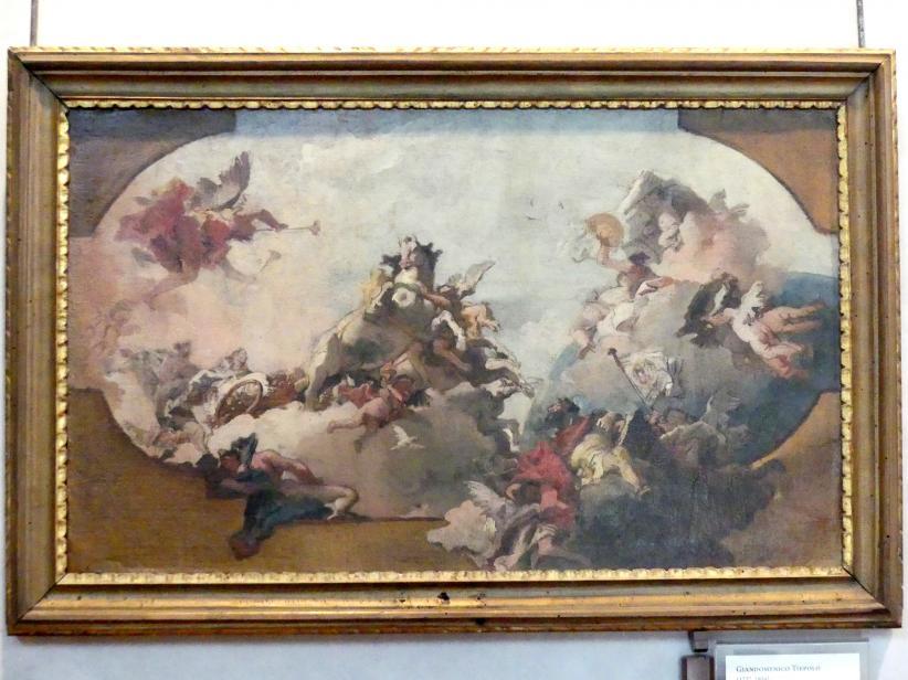 Giovanni Domenico Tiepolo: Entwurf für ein Deckengemälde, Undatiert