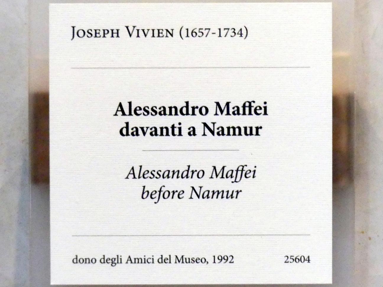 Joseph Vivien: Alessandro Maffei vor der Stadt Namur, Undatiert, Bild 2/2