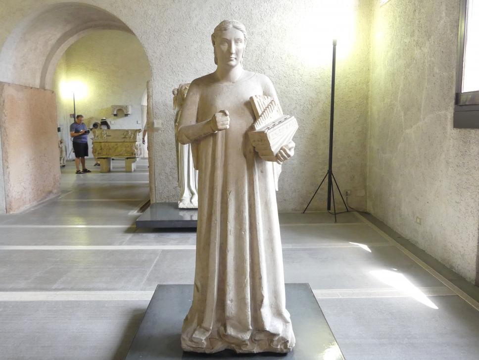 Maestro di Sant'Anastasia: Heilige Cäcilia, 1. Hälfte 14. Jhd.