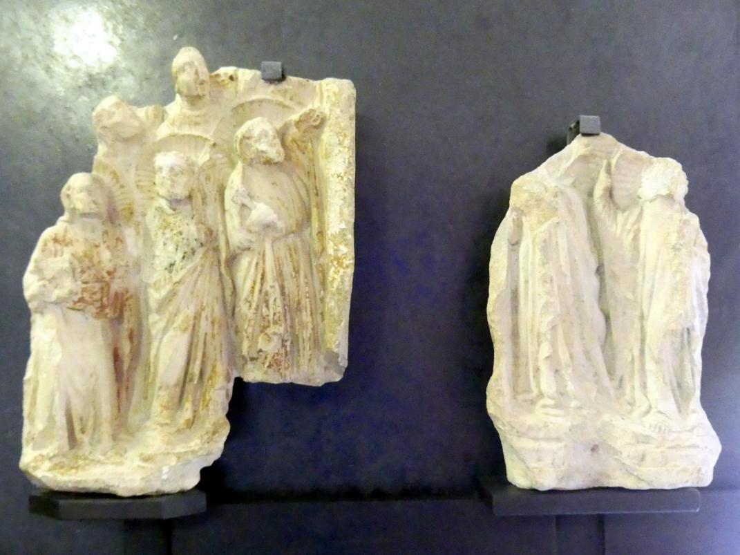 Maestro di Sant'Anastasia: Tabernakel-Fragmente mit Aposteln und Heiligen, 1. Hälfte 14. Jhd.