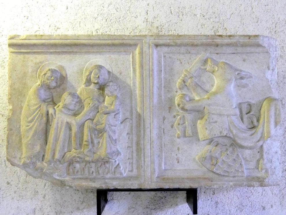 Platte des Sarkophages von Ardicino Benzoni, 1345