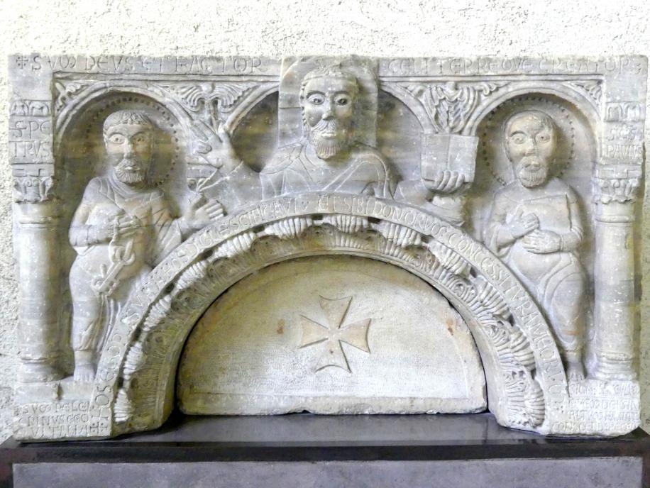 Christus mit den Heiligen Petrus und Paulus, Um 1120 - 1130