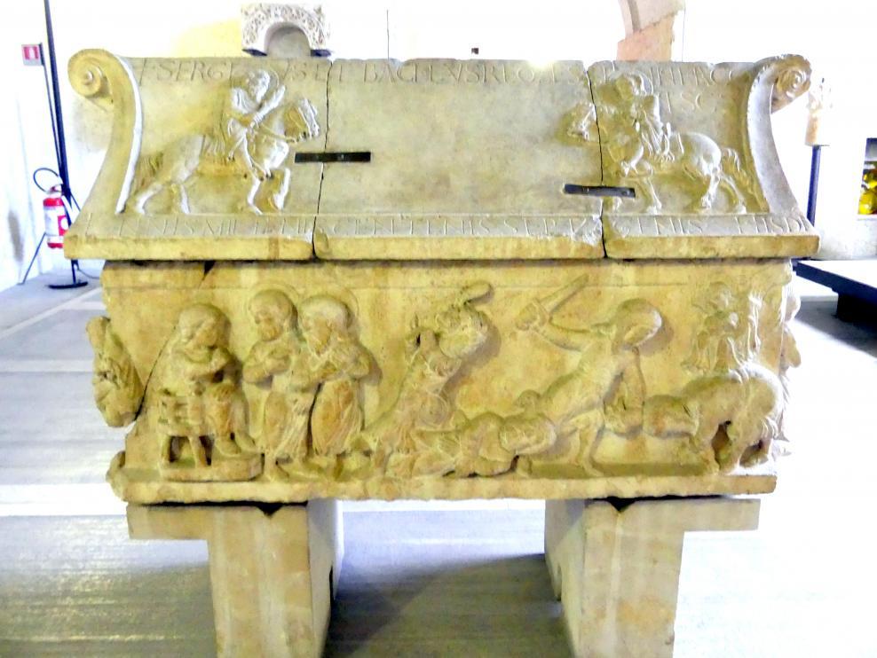 Sarkophag mit den Heiligen Sergius und Bacchus, 1179