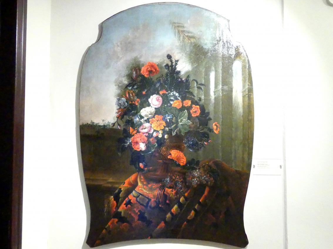 Augustin Dubuisson: Vase mit Blumen und Distel, 1752
