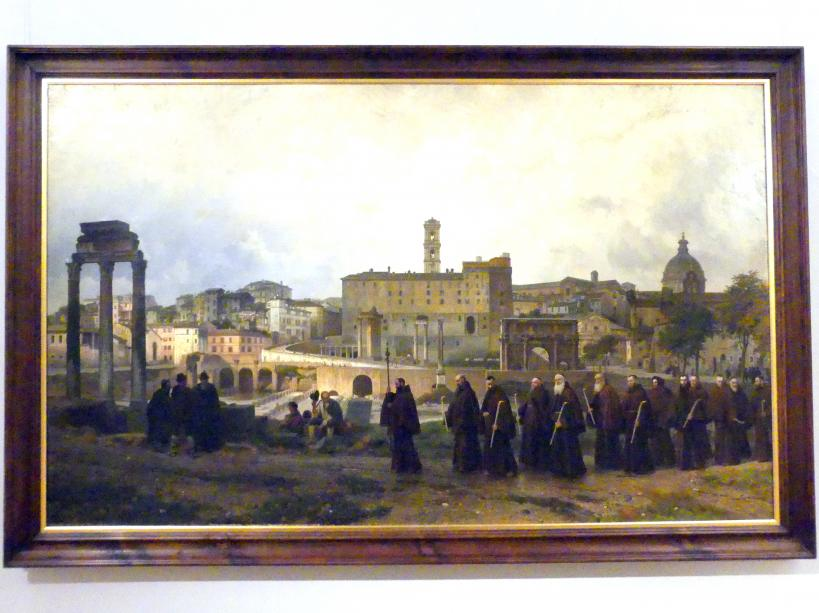 Wilhelm Riefstahl: Kapuziner-Prozession auf dem Forum Romanum, 1879