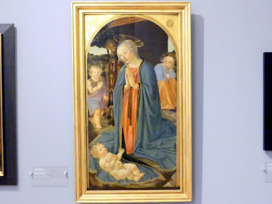 Cosimo Rosselli: Anbetung des Christkindes, Um 1500