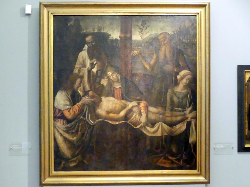 Giovanni Santi: Beweinung Christi, 1484 - 1489