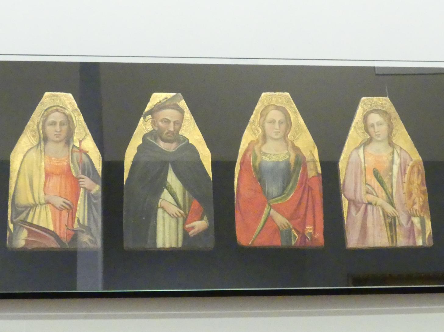 Spinello Aretino: Die heiligen Margareta, Petrus Martyr, Maria Magdalena und Katharina, nach 1400