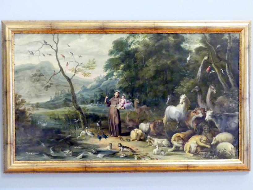 Jan van Kessel: Der heilige Antonius predigt zu den Fischen, 1650 - 1660