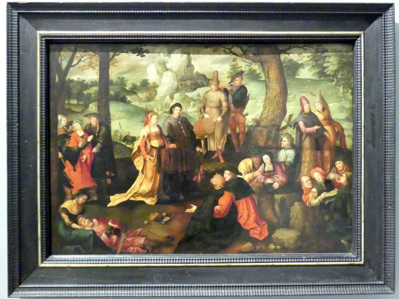 Lucas van Leyden (Nachfolger): Weltliches Leben der hl. Maria Magdalena, 1560 - 1580