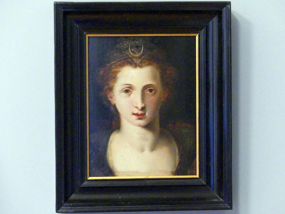 Frans Floris de Vriendt: Porträt eines Mädchens als Diana, 1550 - 1560
