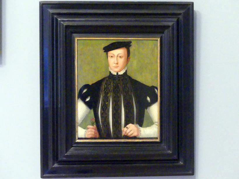 Porträt eines Jünglings mit einer Nelke, 1560 - 1570
