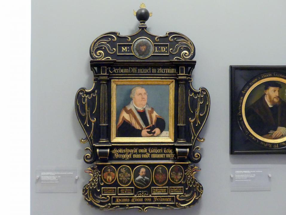 Lucas Cranach der Ältere (Werkstatt): Porträt von Martin Luther, um 1540