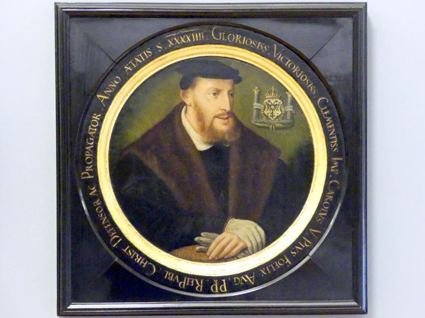 Christoph Amberger (Werkstatt): Porträt des Kaisers Karl V., um 1548